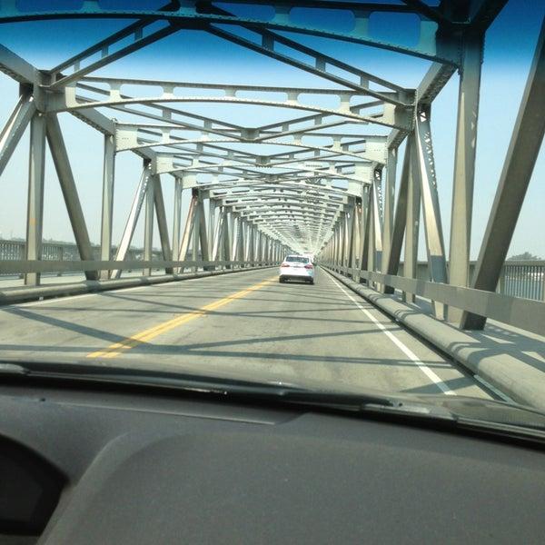 Photo taken at Rio Vista Bridge by Sally F. on 7/30/2013