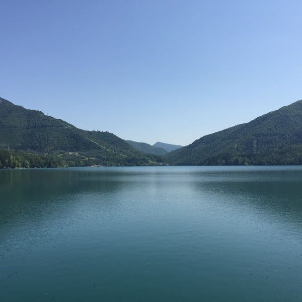 Photo taken at Lago di Suviana by Ilaria G. on 7/4/2015