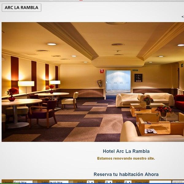 Foto tomada en Hotel Arc La Rambla por emarketing a. el 10/3/2014