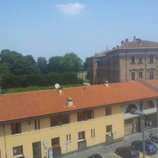 Photo taken at Villa Visconti Borromeo Litta by Lorenzo P. on 6/15/2013