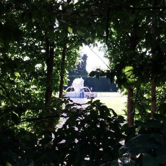 Photo taken at Villa Visconti Borromeo Litta by Lorenzo P. on 5/18/2014