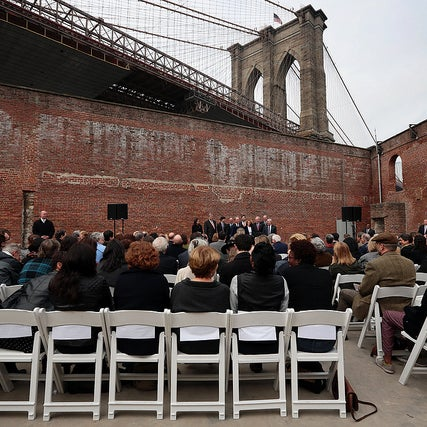 Yesterday, I was here to break ground on the new home for St. Ann's Warehouse at Brooklyn Bridge Park: http://bit.ly/17zApTx