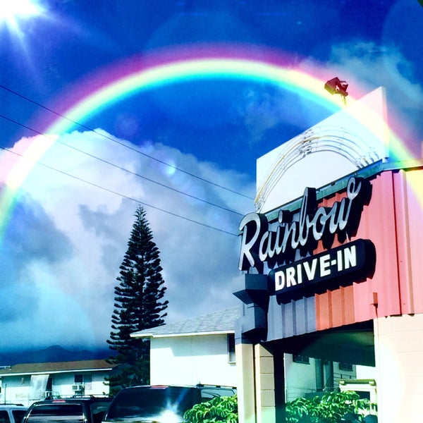 Photo taken at Rainbow Drive-in by Kim K. on 7/8/2015