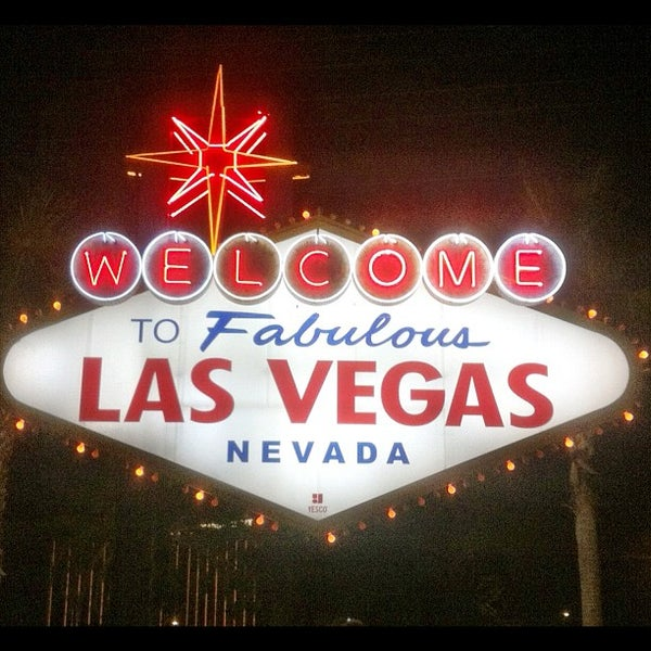 Photo taken at Welcome To Fabulous Las Vegas Sign by Ali A. on 9/23/2012