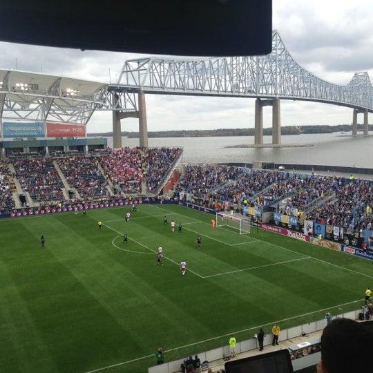 Photo taken at Talen Energy Stadium by Dan D. on 10/27/2012