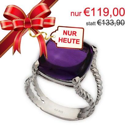 !! 2. Türchen !! statt 133,90... NUR 119,0 #Ring in 925 Silber mit violettem Schmuckstein. Gilt nur für den 2. Dezember 2015 bis 23:59. http://bit.ly/1Q0aDP5