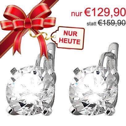 !! 1. Türchen !! statt 159,90... NUR 129,90!! Ohrring in 925 Silber mit Zirkonia Stein. Gilt nur für den 1. Dezember 2015 bis 23:59 http://www.cemjon-schmuck.com/de/silber-ohrringe-zirkonia-rund