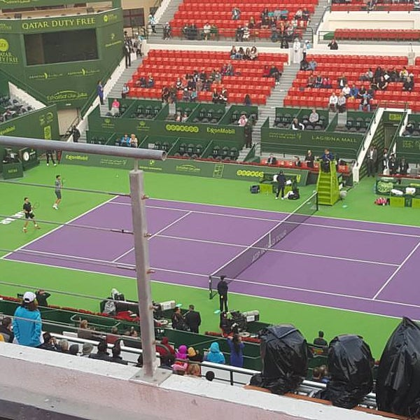Photo taken at Qatar Tennis Federation by Metin T. on 1/8/2016