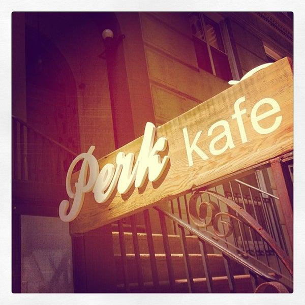 Foto tomada en Perk Kafe por Dave B el 6/1/2013