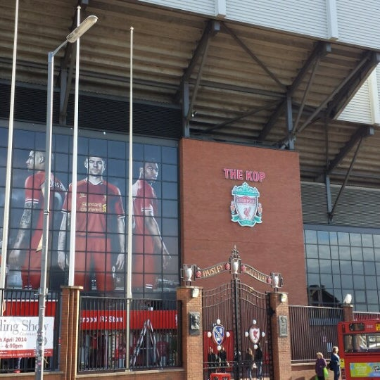 Photo taken at Liverpool FC Official Club Store by Christoph A. on 4/10/2014