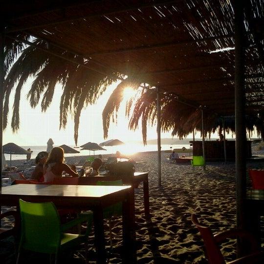 Photo taken at Ramo Beach by cemal e. on 9/30/2012