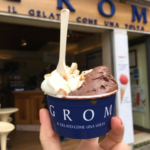 Best gelato in the entire world! They use only seasonal ingredients. Sorbet tastes like a real fruit, and is best for hot summer days. Grom is a chain and you can find it in main Italian cities.