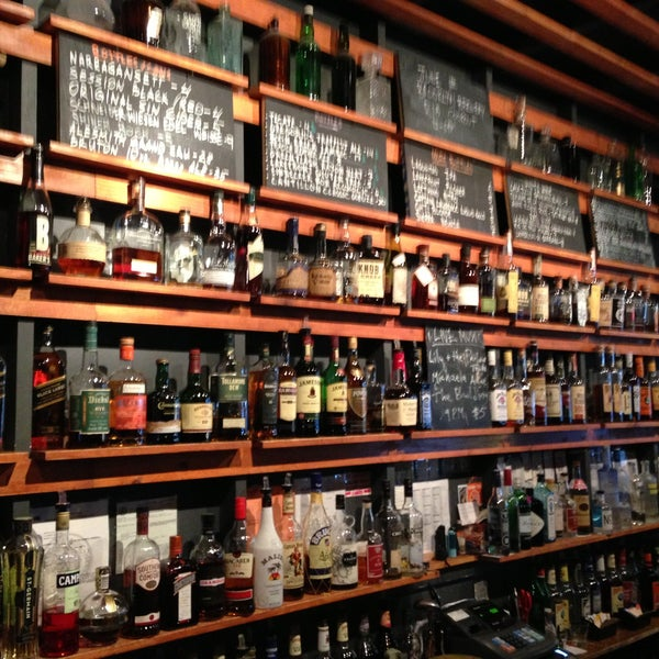 flower shop in Ditmas that doubles as a killer bar. great patio out back and perfect cocktails. check out this whiskey collection...