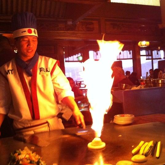 Photo taken at Mt. Fuji Japanese Steak House by Lara on 3/13/2012