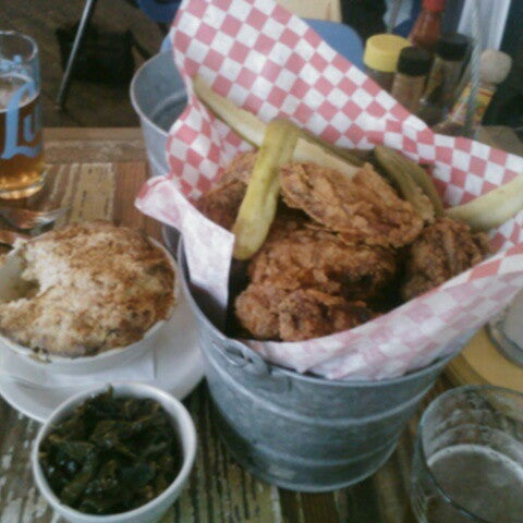Photo taken at Lucy's Fried Chicken by James B. on 4/13/2013