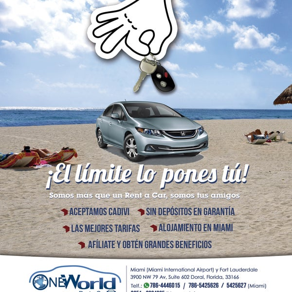 one world rent a car   2 tips