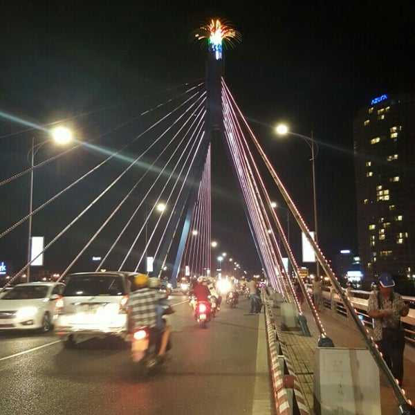 Photo taken at Han River Bridge by Linh V. on 5/15/2016