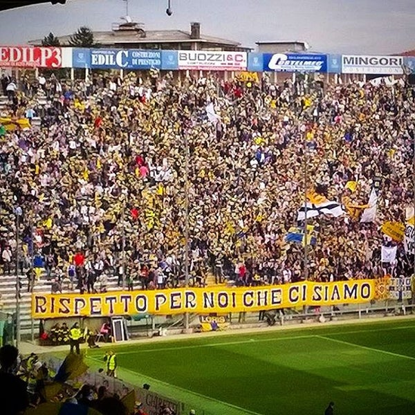 Photo taken at Stadio Ennio Tardini by Visitparma on 4/17/2016