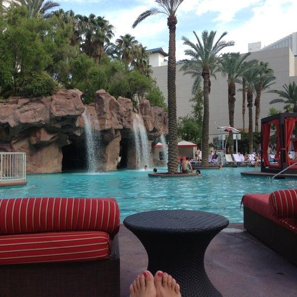 Photo taken at Flamingo GO Pool by Christina D. on 8/23/2013