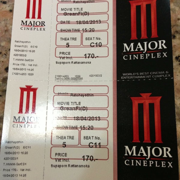 Photo taken at Major Cineplex Ratchayothin by HAN R. on 4/18/2013