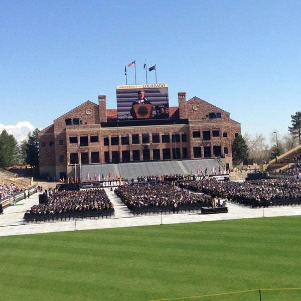 Photo taken at Folsom Field by Mike S. on 5/10/2013