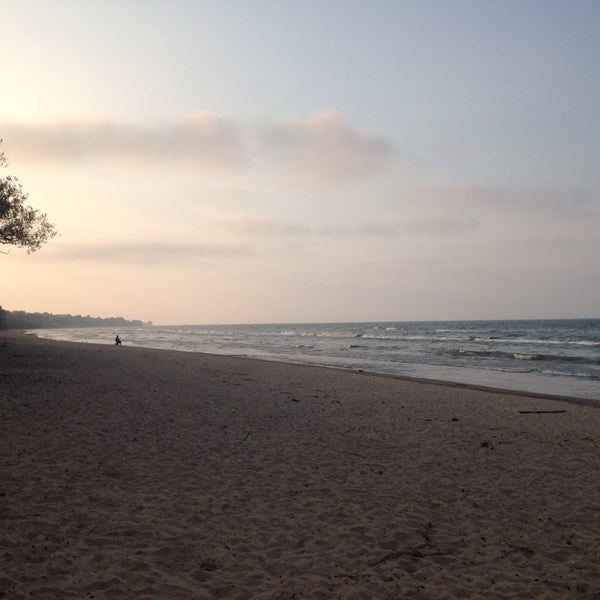 Photo taken at Durand Eastman Beach by Jean C. on 9/30/2014