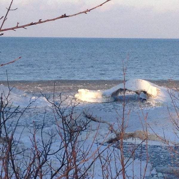 Photo taken at Durand Eastman Beach by Jean C. on 1/22/2015