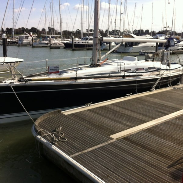 Photo taken at Hamble Point Marina by Henk B. on 3/12/2013