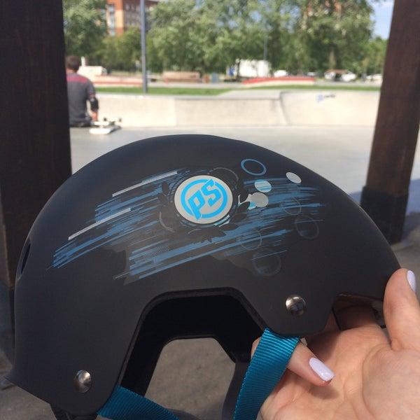 Das Foto wurde bei Скейт-парк «Садовники» von Julia O. am 5/27/2015 aufgenommen