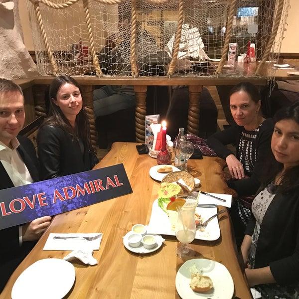 Снимок сделан в Admiral Restaurant пользователем Roman A. 12/9/2016