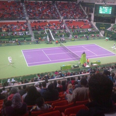 Photo taken at Qatar Tennis Federation by $Rohit$ K. on 1/3/2013