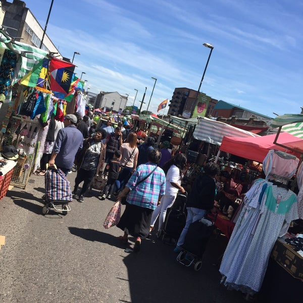 Photo taken at Ridley Road Market by Greg O. on 6/3/2017