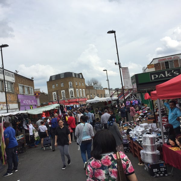 Photo taken at Ridley Road Market by Greg O. on 5/7/2016