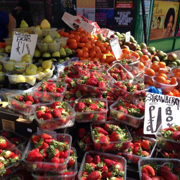 Photo taken at Ridley Road Market by Greg O. on 3/29/2014