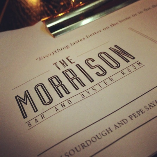 Photo taken at The Morrison Bar & Oyster Room by Jess on 11/16/2012
