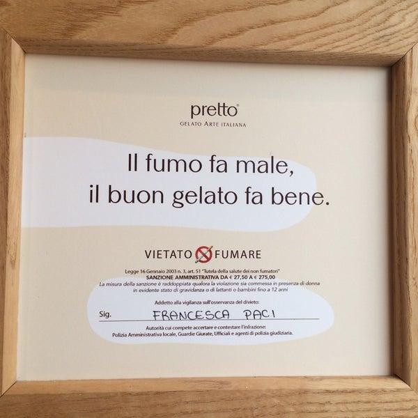 Foto scattata a Pretto Gelato Arte Italiana da Marta C. il 9/4/2014