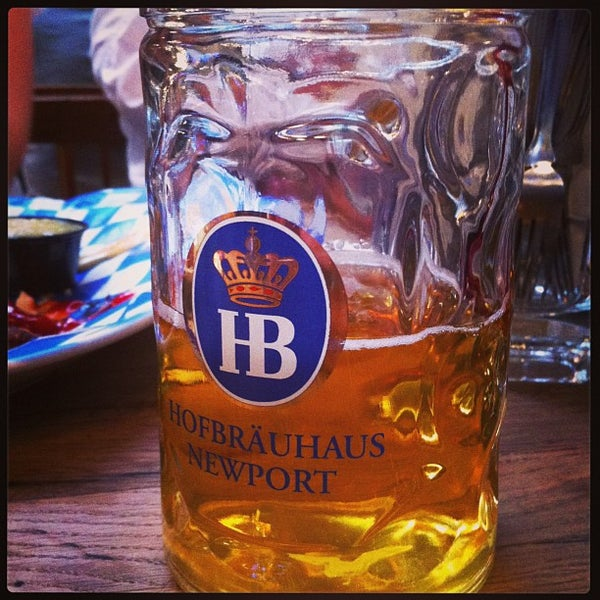 Photo taken at Hofbräuhaus Newport by Mark on 4/26/2013