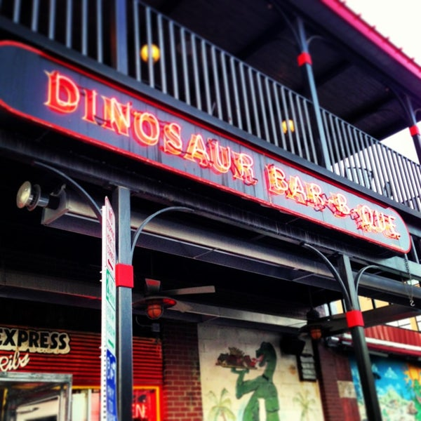 Photo taken at Dinosaur Bar-B-Que by Rebecca M. on 12/19/2012