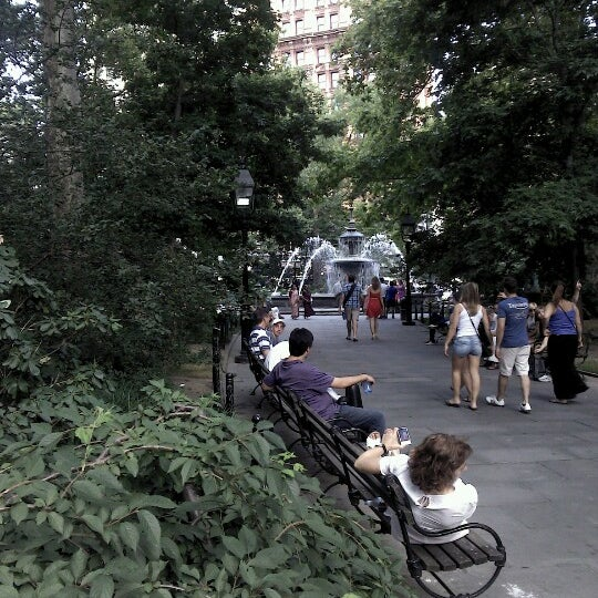 Photo taken at City Hall Park by Steven B. on 7/14/2012