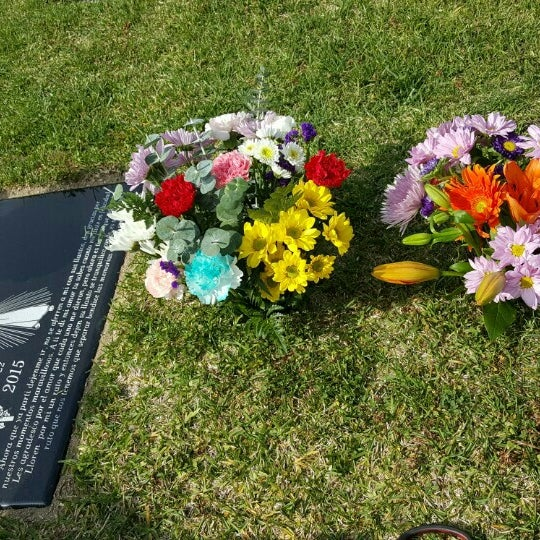 Photo taken at Oakdale Memorial Park and Mortuary by Grisel D. on 3/20/2016