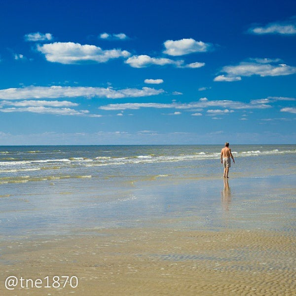 Photo taken at Beach by Eric H. on 10/9/2013