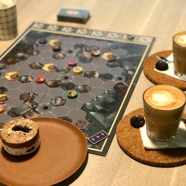 Wonderfull expriement in cafe with biard games,you can pick one of the board game from the shelves and play it with your friends,coffee quality was acceptable,this place has outdoor seating area