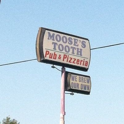 Photo taken at Moose's Tooth Pub & Pizzeria by Jamie M. on 8/14/2012