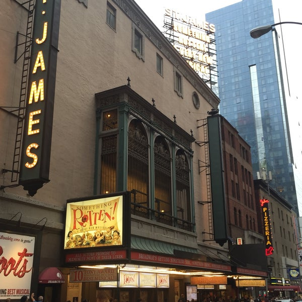 Photo taken at St. James Theatre by Laurent D. on 5/9/2015