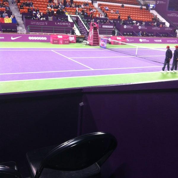Photo taken at Qatar Tennis Federation by Athanatchie on 2/25/2015