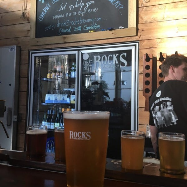 Photo taken at Rocks Brewing Co by Gabe R. on 12/30/2015