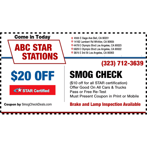 Photos at ABC Smog Check STAR Station - 4555 E Gage Ave