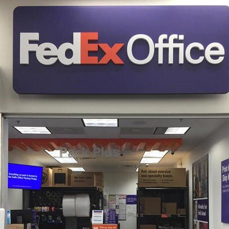 fedex office print ship center inside walmart kemah tx