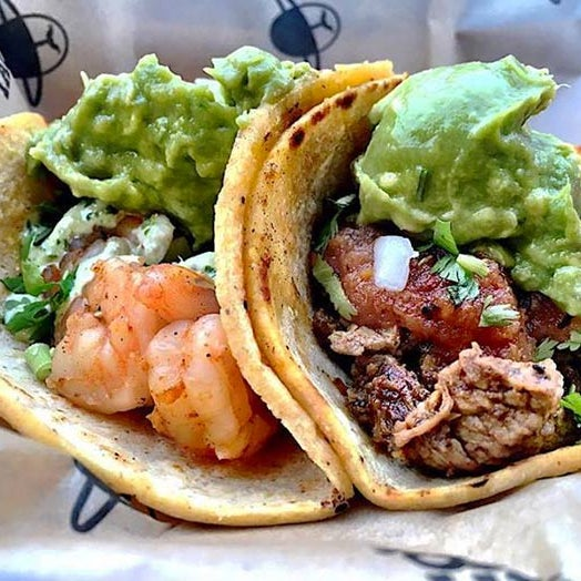 These L.A.-inspired tacos keep it simple, with only five choices on the menu. We'll have a shrimp with serrano crema, por favor.