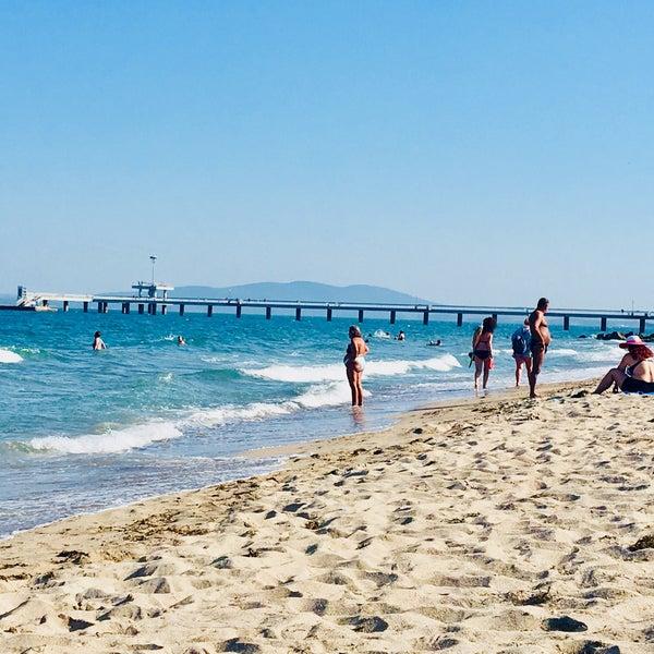 Foto scattata a Централен Плаж Бургас (Burgas Central Beach) da SuperTed il 9/1/2018